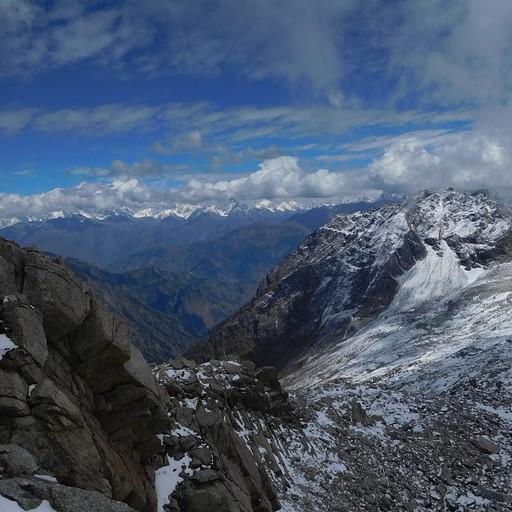 הנוף מהפאס לכיוון עמק צ'מבה