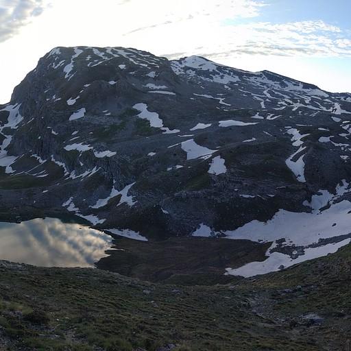 הנוף מבקתת אסטרקה לכיוון תחילת המסלול של היום