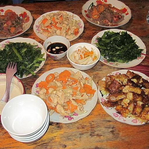 ארוחת המלכים שקיבלנו בערב