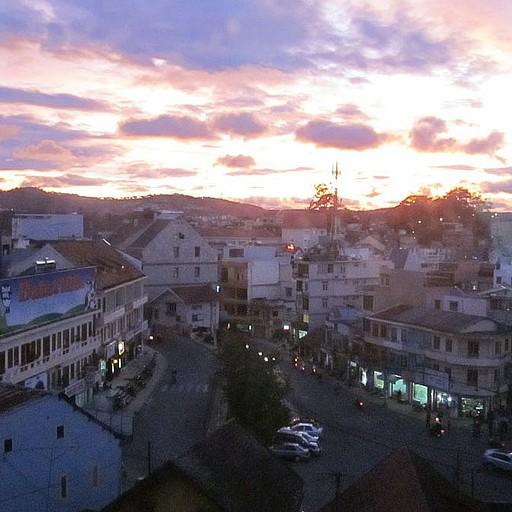 נוף העיירה מהחלון שבגסטהאוס