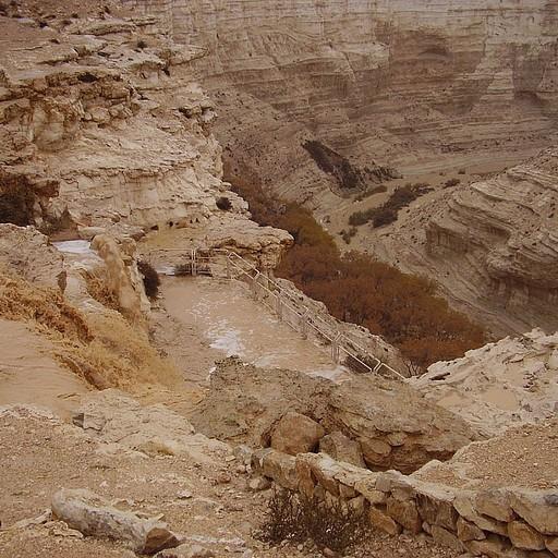 שטפונות 2007- מצולם מהמצפור הנמצא בסוף עין עבדת