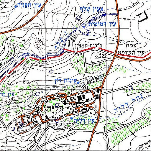 מפת איזור דליה, הקווים האדומים מסמנים את מסלול הרכיבה