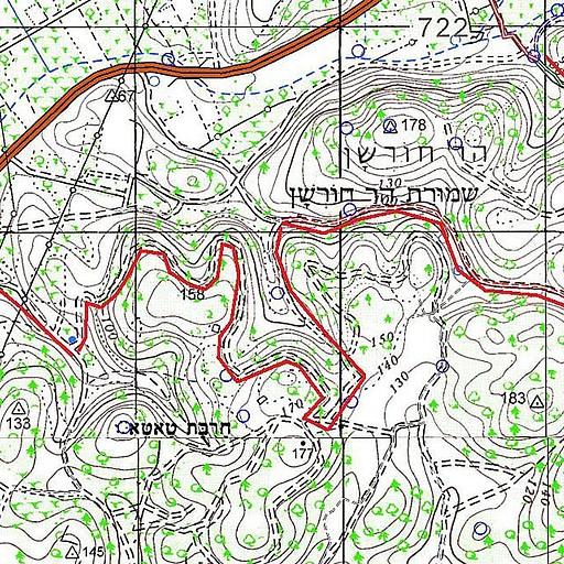 מסלול הרכיבה בהר חורשן