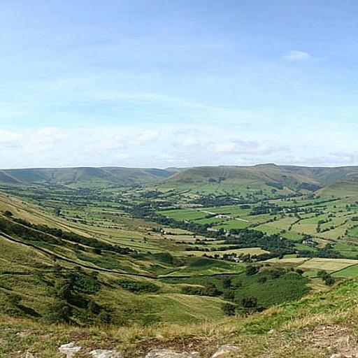 הנוף מ-Lose Hill לכיוון Mam Tor