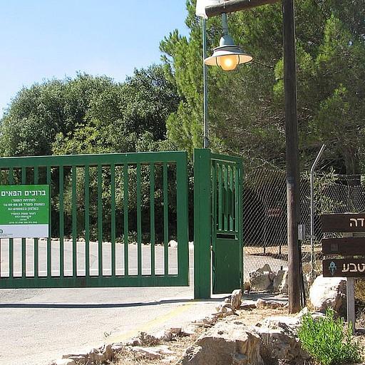 שער הכניסה של בי'ס שדה הר מירון