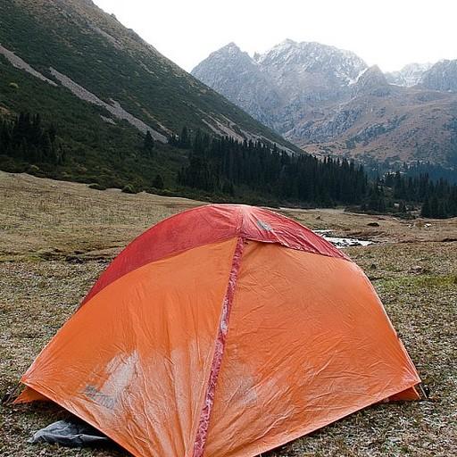 קצת קרח על האוהל...כמו כל בוקר