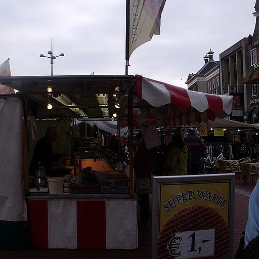 Almost every day market in center of city of Groningen