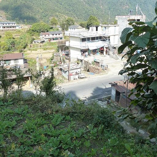 תחילת המסלול מהכפר  Kanda