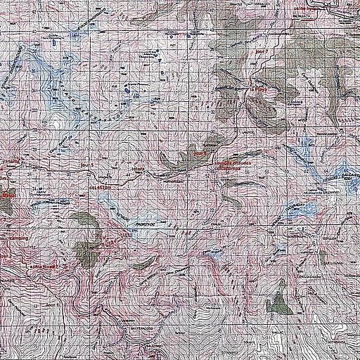 מפה טופוגרפית עם המסלול מצוייר עליה