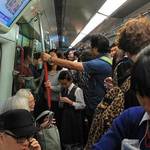 צפיפות ברכבת