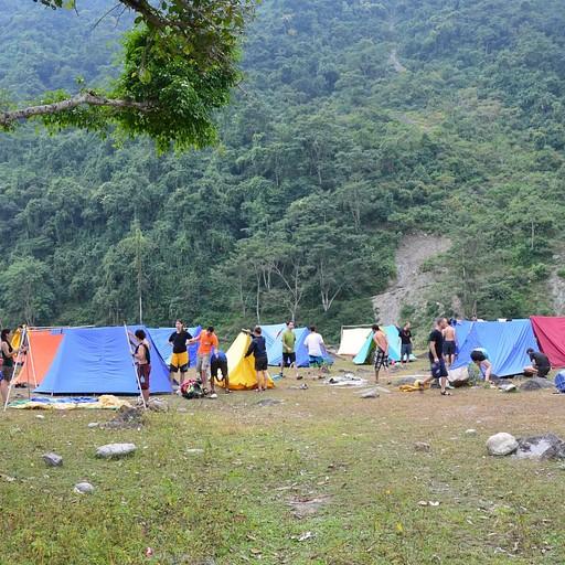 המחנה בלילה השני