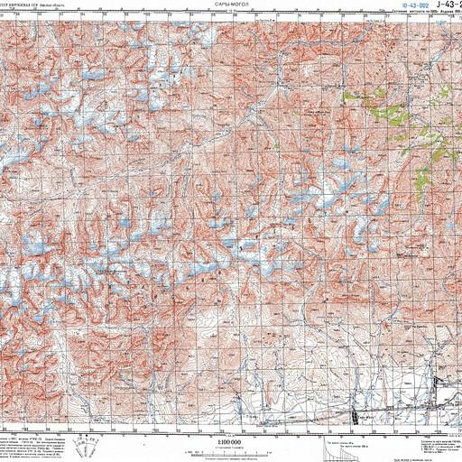 מפה סובייטית של הטרק J43-002