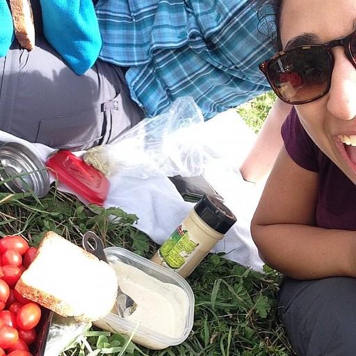 ארוחת צהרים טיפוסית ליד refuge Bertone