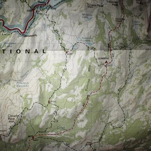 דוגמא למפת טיול