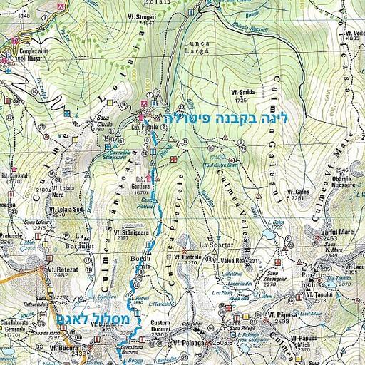 מפת הטיול