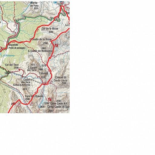 הממורקר השמאלי מתאר את התוואי מאגם מיזורינה לבקתה הראשונה בדריי זינן