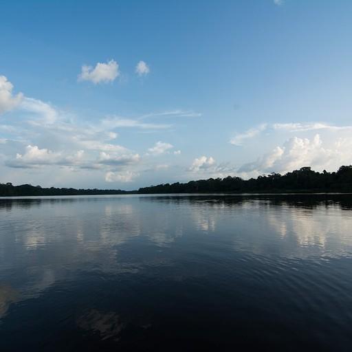 אגם אליו הגענו בשייט עם הקאנו