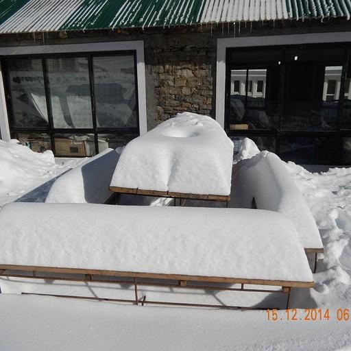 השלג בתורונג פדי לאחר יום