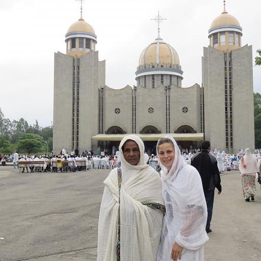 הביקור בכנסייה עם אזאנה