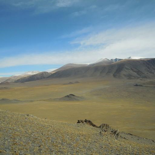 נוף טיפוסי של מערב מונגוליה