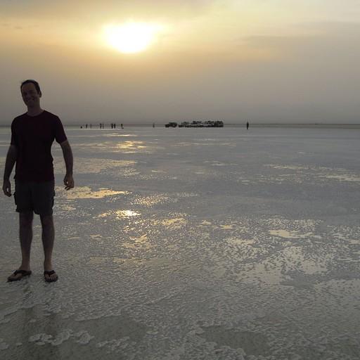 שקיעה באגם המלח