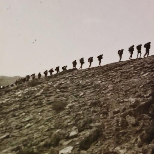 """שיירת חברי פלמ""""ח במסע, 1947"""