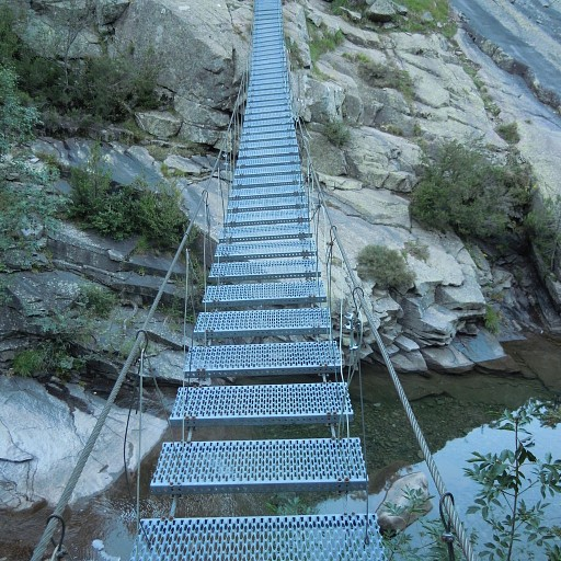 הגשר התלוי בתחילת היום