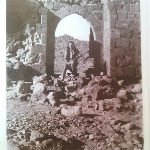 """פלמ""""חניקית בשער המערבי של מצדה, 1947"""