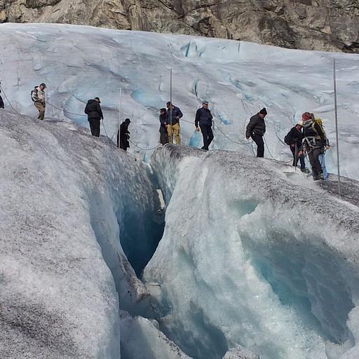 הליכה על הקרחון במסלול משפחתי