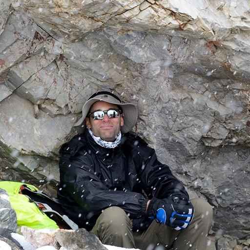 מחסה מהשלג, מעט לפני ההגעה לאתר הקמפינג