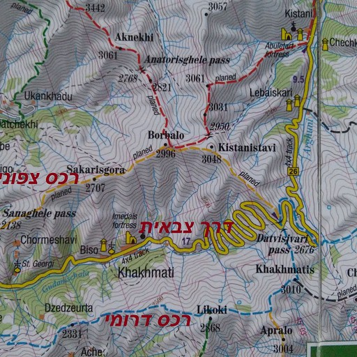 סימון שבילים והרכס דרומי (מתוך מפה של TerraQuest