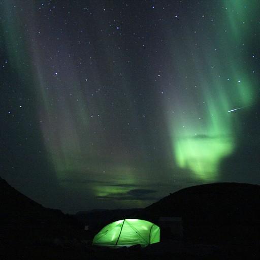 זוהר ב-Blue Ice camp