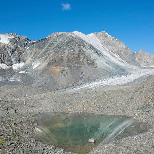 האגם הקטן שממש לפני הקרחון