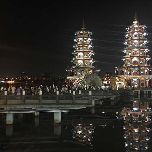 האגם ב- Kaohsiung