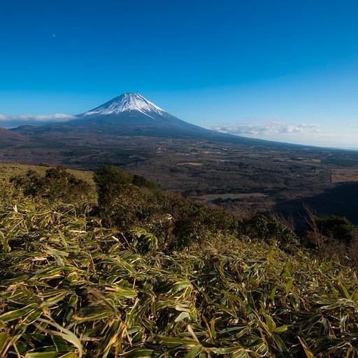 מבט על פוג׳י מאמצע הטיפוס להר Ryugatake