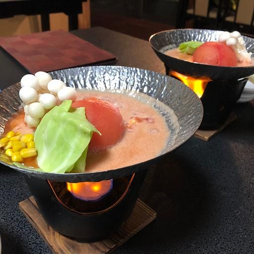 ארוחת הערב - מרק עגבניות עם פטריות