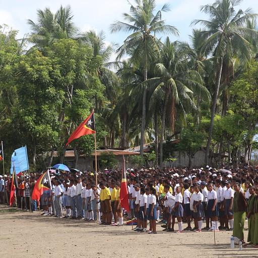 """יום העצמאות של מזרח טימור, בכפר """"וילה"""", אטאורו."""