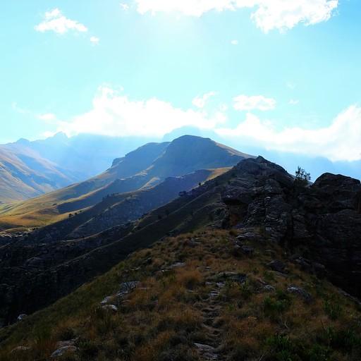 הנוף המדהים בראש ההר לפני המגלשה