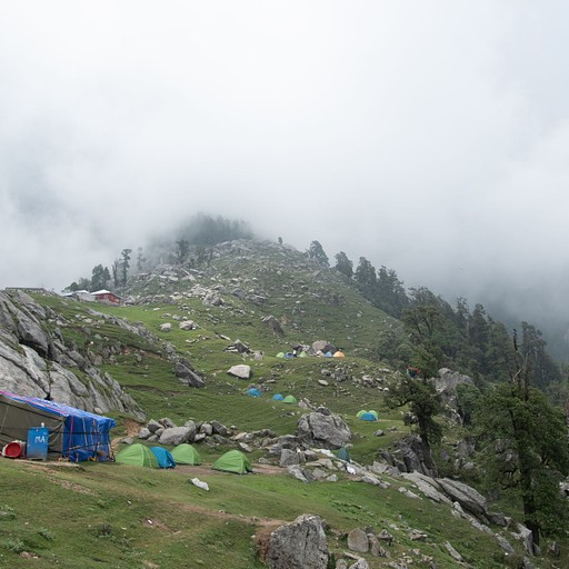 Triund camping