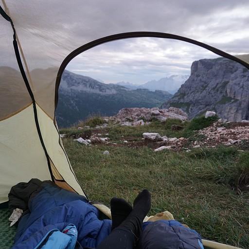 נוף יפה מהאוהל