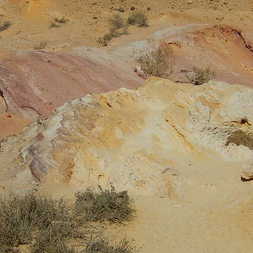 חולות צבעוניים - מכתש הגדול
