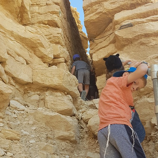 הר צין - הסדק דרכו מטפסים לפסגה