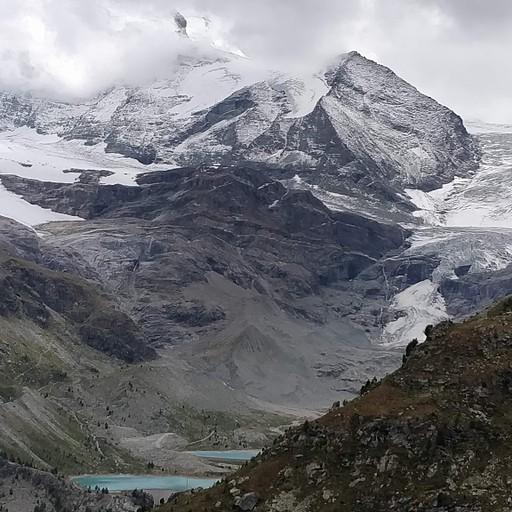 הווייסהורן, הקרחון והאגמים