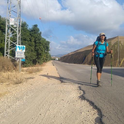 את ארבעת עשר הקילומטרים האחרונים עשינו בהליכה מהירה מאד על מנת להגיע אל הים התיכון לפני שקיעה.