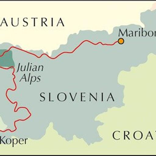 המסלול הכללי של טרק חוצה סלובניה