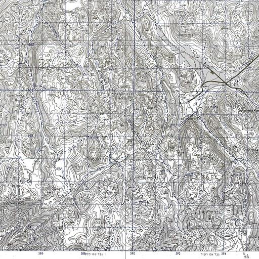 מפה טופוגרפית של האזור