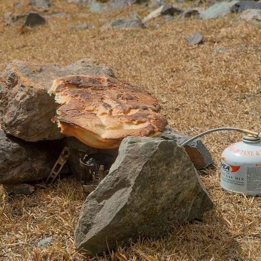 לחם קירגיזי על הגז. טריק שלמדנו מאוחר מדי :)
