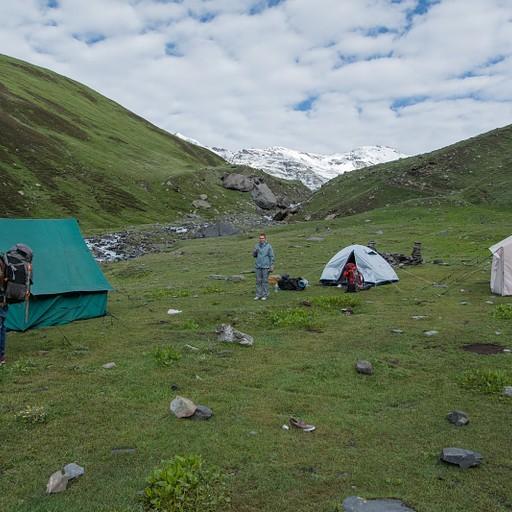 מחנה האוהלים שבו ישנו בפוסטירנג