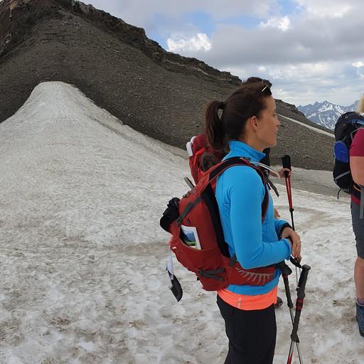 הגענו מימין ל-Col de Fours, בשמאל ירדנו על התחת :)
