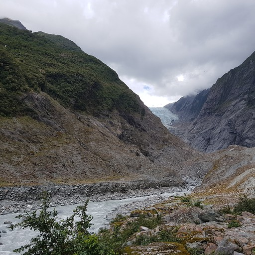 הקרחון נראה מרחוק